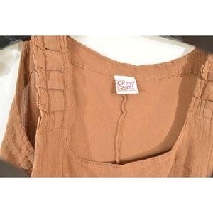 Oh My Gauze! Dresses - Oh My Gauze dress sleeveless L/XL brown pleated sh